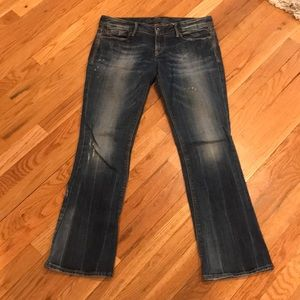 Express Low Rise Bootcut Jeans
